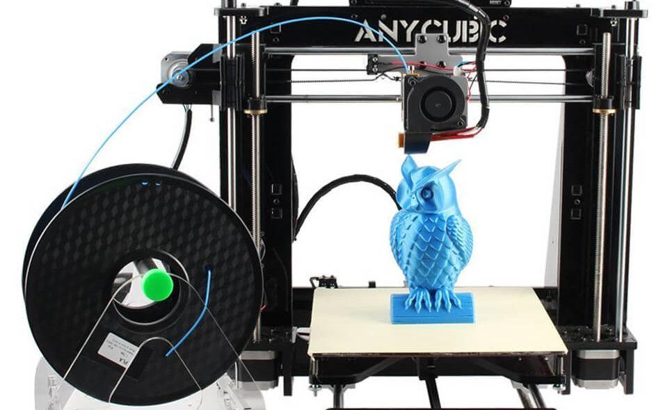 aufgebauter Anycubic Prusa i3 3D Drucker