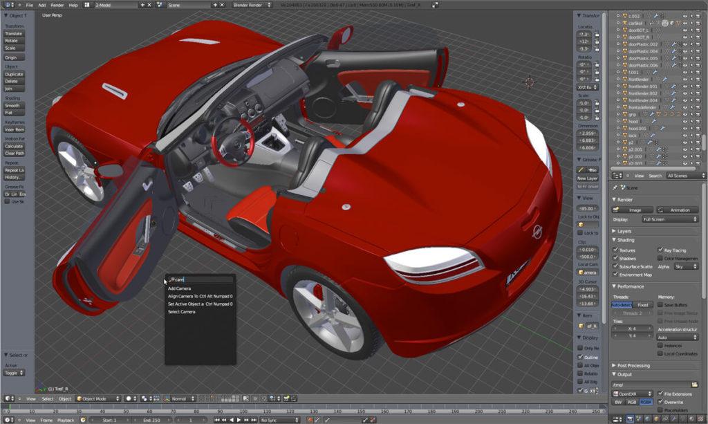 Blender ist ein beliebtes Programm für 3D-Modellierung und Animation