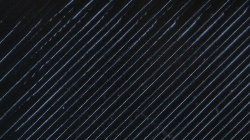 Nahaufnahme der FFF world PETG Filament Pigmentierung