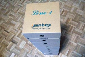 Ein Stapel Janbex PLA 3D-Druckmaterial