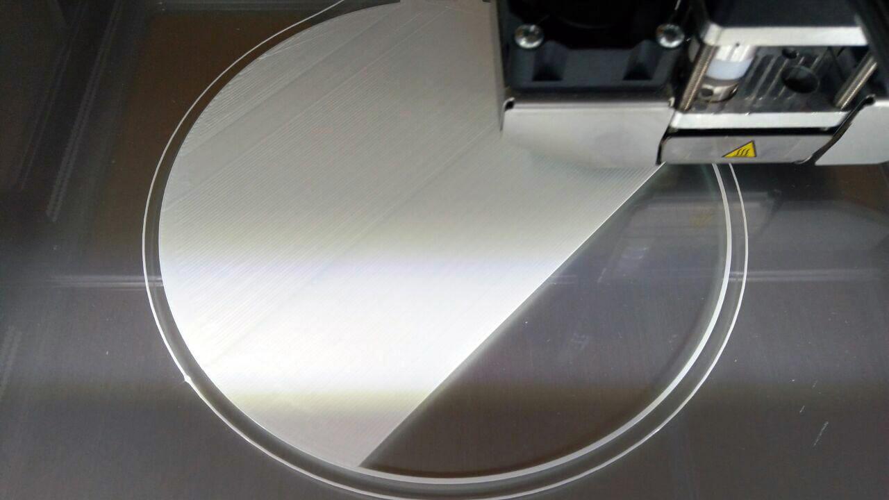 druck eines untersetzers im janbex pla filament test 3d. Black Bedroom Furniture Sets. Home Design Ideas