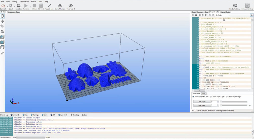 3D-Drucker Software Repetier Host