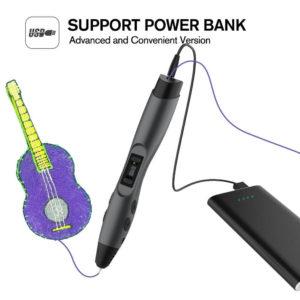 Auch den Einsatz via Powerbank bestätigt unser Sunlu 3D Stift Test