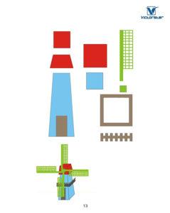 Eine Windmühle aus dem Victorstar 3D-Stift Vorlagen Set