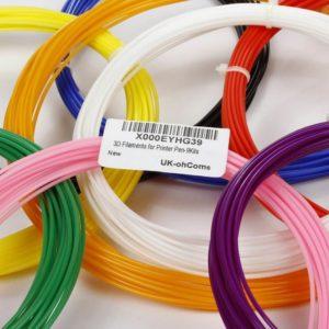 Die 3D-Stift Schablonen können nicht nur mit ohCome Filament zum Einsatz kommen
